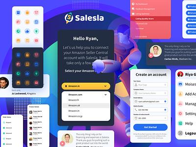 UI Components V 1.2 - Salesla colors grid amazon mobile gradient graphic design character art minimal website flat web icon typography ux vector branding ui design dashboard