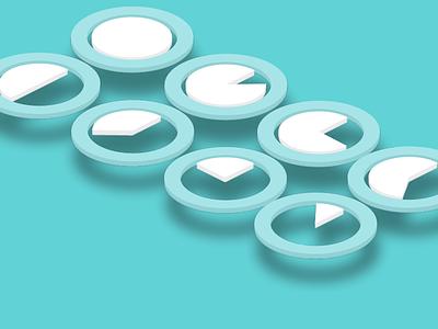 Circular UI Loader Design navigation flat design ui ux web button icon website interface 3d
