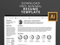 Free Mimimal Resume/CV Template