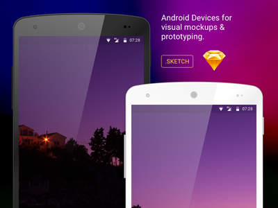 LG Nexus 5 in Sketch device white free template ux sketch ui android showcase nexus