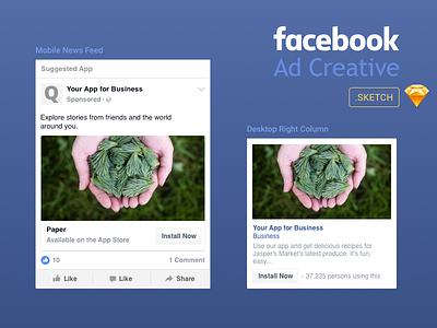 Facebook ad creative   sketch via dribbble