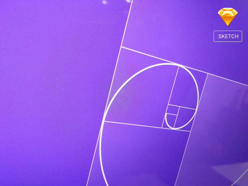 Golden Spiral Grid Template Sketch + Steps via Dribbble ui branding web template free freebie vector sketch grid golden spiral