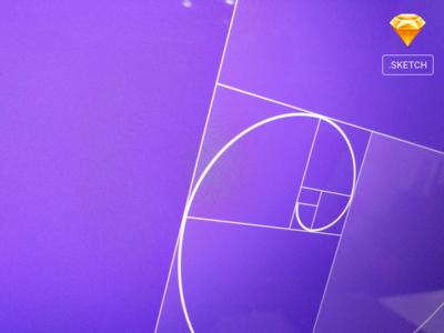 Golden Spiral Grid Template Sketch + Steps via Dribbble