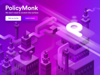 Policy Monk - Isometric illustration