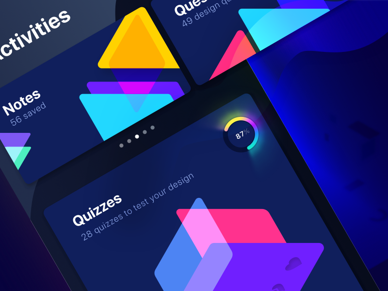 Activity Screen - UX Flashcards by Abinash Mohanty on Dribbble