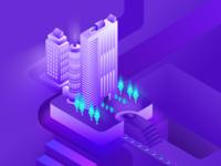Isometric Digital Illustration WiP