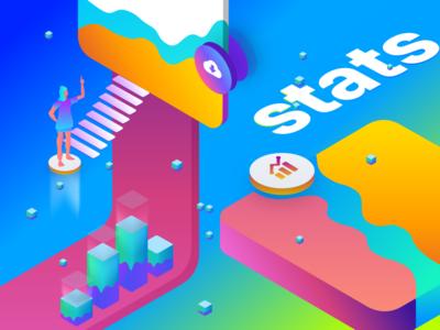 App Analytics To Measure Success web dashboard ux ui typography logo illustration icon flat design branding app