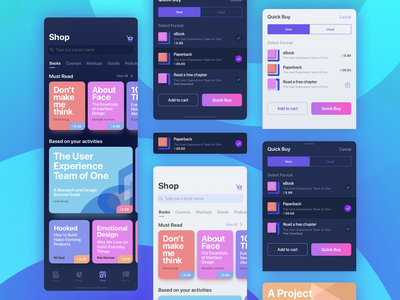 Shop Books Under Design Store Add To Cart And Quick Buy ecommerce books checkout buy mobile app shop design colors interface iphone iphonex ios illustration sketch branding ux ui