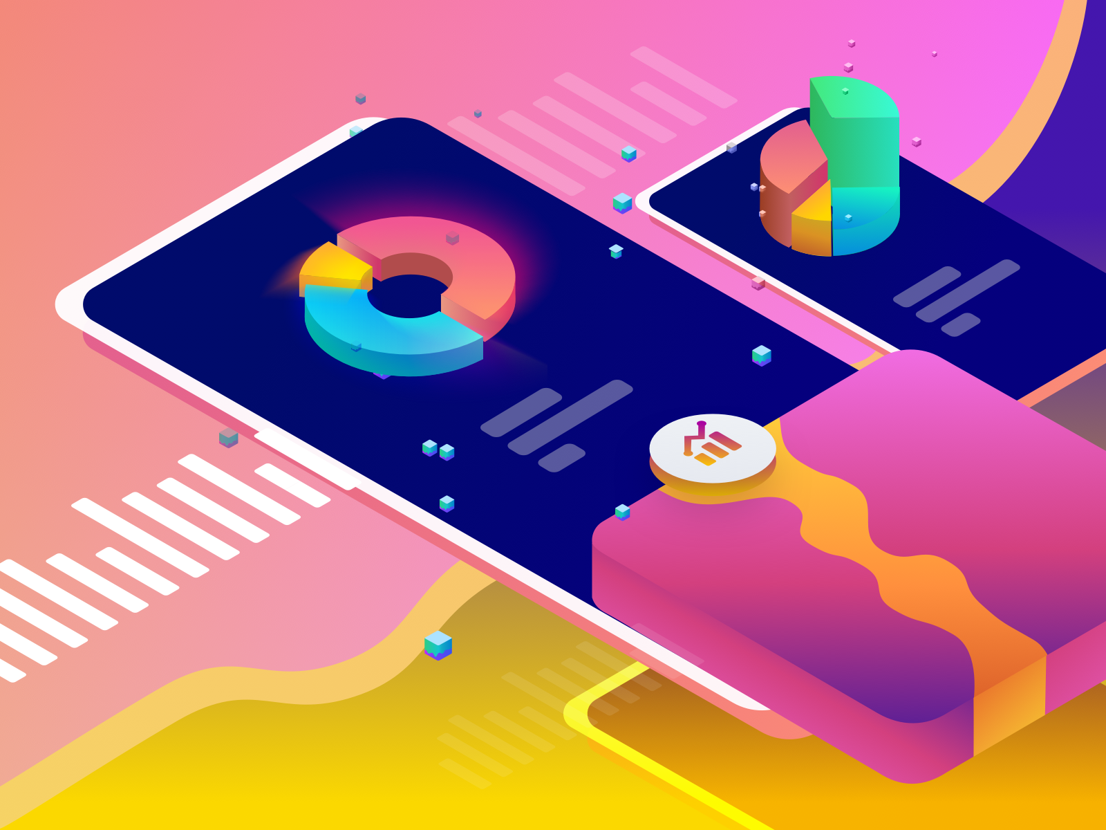 Product analytics pro shots for its landing page 1x