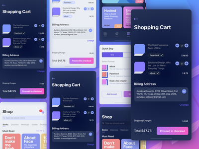 UX Books   Quick Buy   My Shopping Cart Screens 1x education ios iphone iphonex shopping buy payment checkout ecommerce books design ux colors interface icon sketch branding app ui