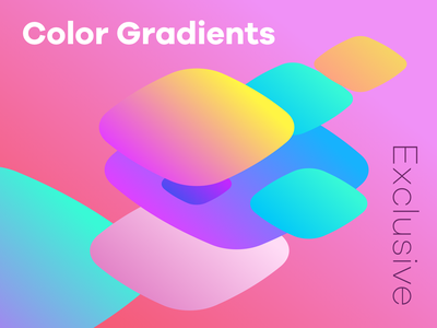 Color Gradients Candy Series graphicdesign template rgb vibrant purple blue yellow isometric sketch gradients colour gradient gradient colors flat
