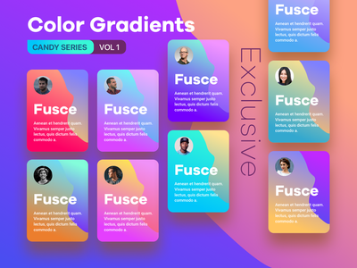 Color Gradients Candy Series - Variant purple pink cyan green vibrant rgb red blue orange mustard yellow colour gradient gradient gradients colors