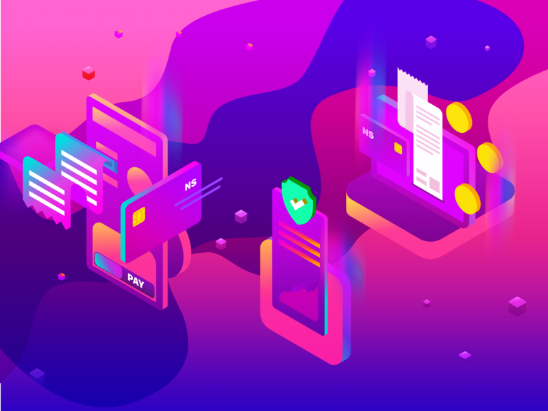 Crypto Instant Payment - Spot Illustrations spot interface mobile web ui design vector affinity gradient blue cyan landing blockchain crypto branding colors isometric icons isometric illustration ui