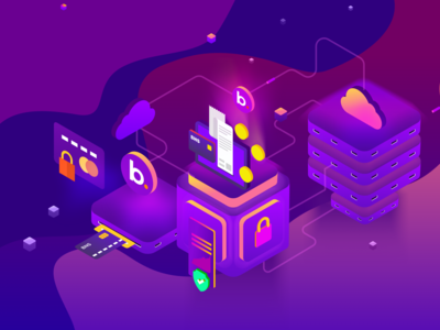 Crypto BNS Token Illustration - Landing Page
