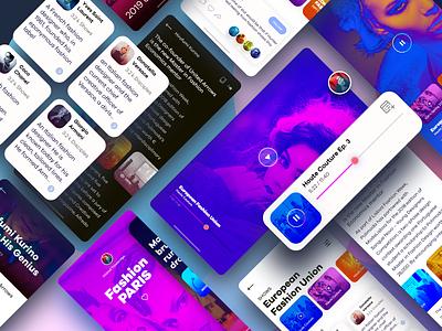 Fashion EMag 1.6 iPhone App purple designer iphone clean branding app design sketch discover blue interface ux uiux graphics uidesign product ui colors ios app fashion
