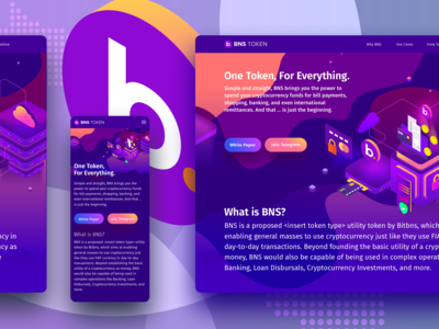 Bitbns BNS Token Illustration - Landing Page