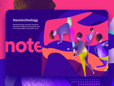 Nanotechnology - Hero illustration using Flexi