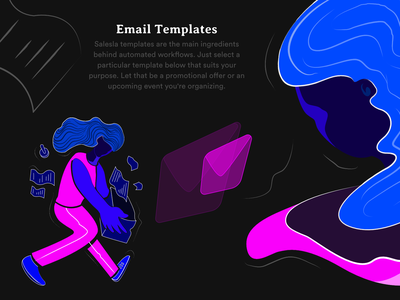 Templates - Workflow Automation for Amazon Sellers vector clean dribbble affinity branding amazon sales marketing girl people dashboard responsive mobile web graphic design color art illustration