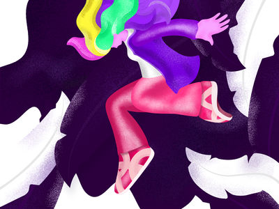 Being Escaped - Lola woman girl lola illustrations art web ui sketch colors design ad character affinity texture vector concept creative graphic design graphics illustration