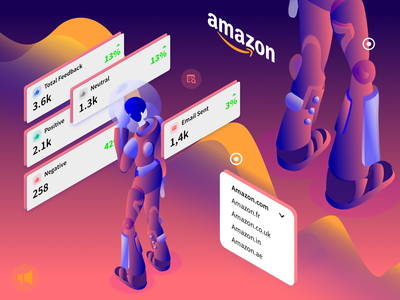 Start using Salesla - Amazon Sellers isometric affinity amazon mobile gradient graphic design character art minimal website flat web icon typography ux vector branding ui design illustration