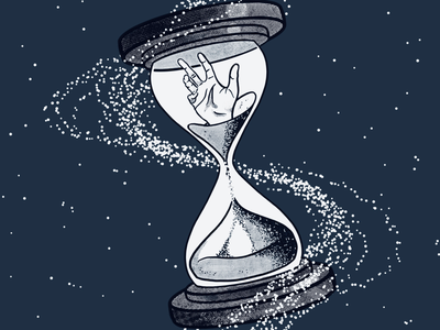 Dig Deep cosmos hourglass hand