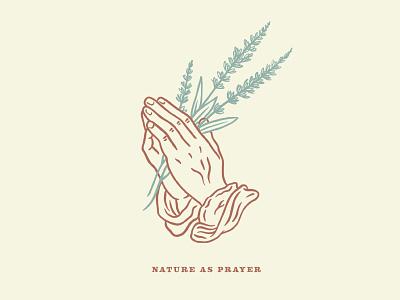 Nature As Prayer minimal plants prayer hands
