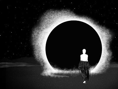 Allogenes blackandwhite blackhole abyss beyond home stars robes source light cosmos portal