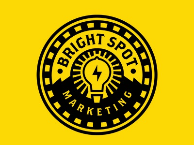 Brightspot Marketing Logo ray circle logo marketing bolt light
