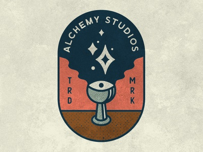 Alchemy Studios Logo eye stars cup alchemy