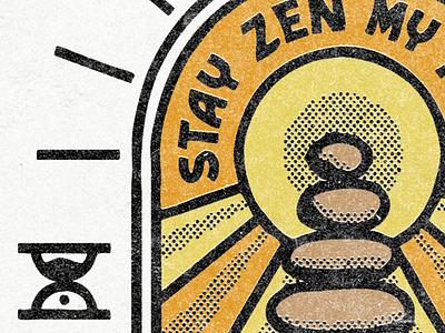 Stay Zen - Texture Shot textured concept design illustration