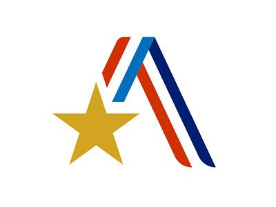 Elite Athlete Branded A - 2 elite vector triathlon sports ribbon professional logo medal lettr identity golden logodesign brand badge brand design logo a
