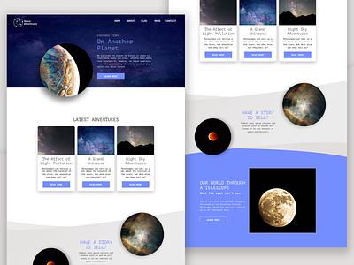 Space Web Design typography sketch uiux ui webdesign space