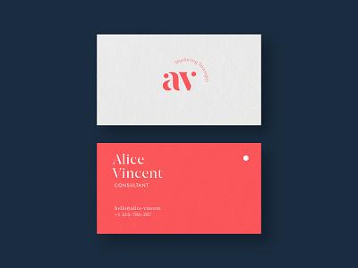 business card branding logotype dots corail marketing logo design consulting logo consultant clean design av