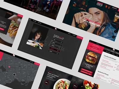 Shoeless Joe's all page girls night out burger beer restaurant webdesign website concept website design