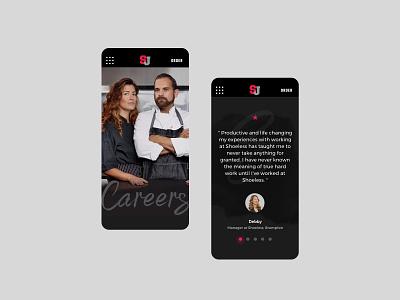 Shoeless Joe's Mobile testimonial restaurant ui design mobile ui responsive design responsive website website