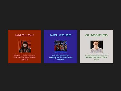 Blog Music Section concept music colorful ui  ux design ui ui design clean design