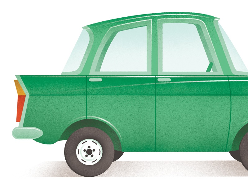 Old Moscvich russia car