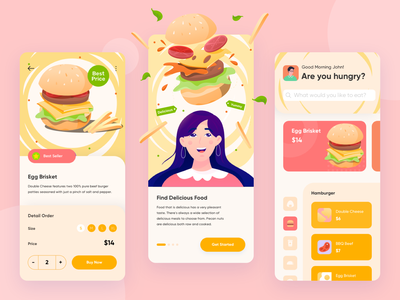 Foodie - Food Delivery Service restaurant product mobile application application mobile design mobile app mobile ui mobile delivery service ecommerce design ecommerce app ecommerce burger foodie food delivery app delivery app app design app ui
