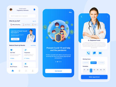 Covped - Covid-19 Prevent and Guidance Mobile Apps apps medic medicare corona virus corona design exploration uidesign ui user interface doctor pandemic covid-19 medical application mobile apps mobile
