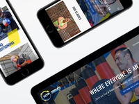 Fitness Studio Website on Mobile