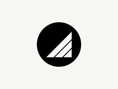 David McCrindle Logo illustration logo triangle circle black and white geometric