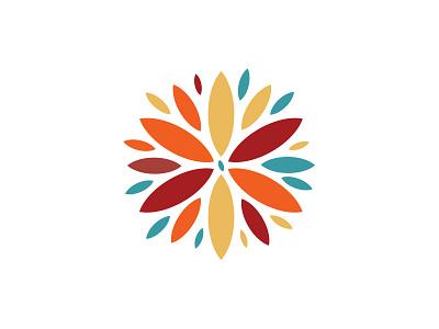 Blossom Box Kids logo crafts colorful flower organic shape petals illustration