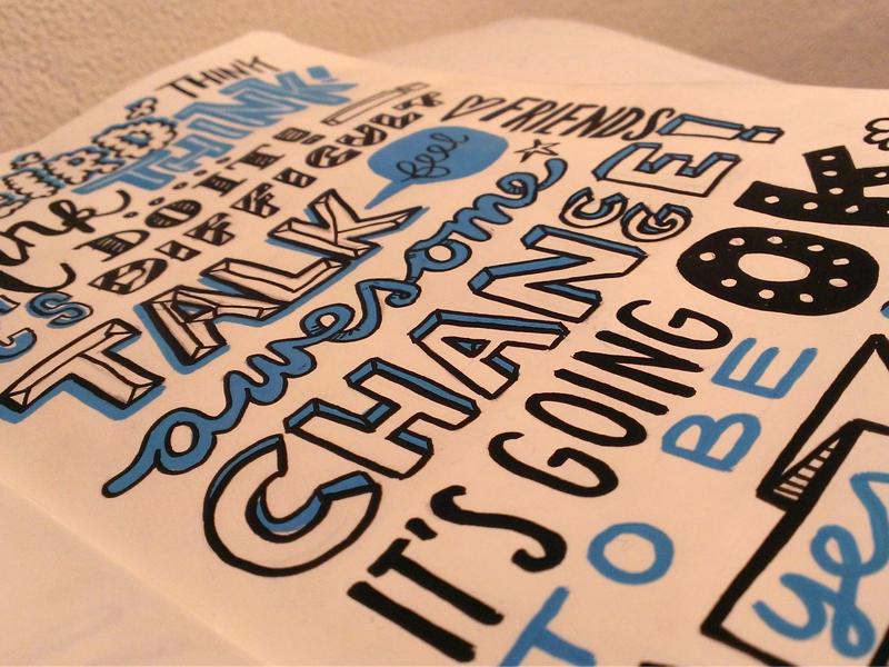 Typography practising Moleskine moleskine posca typography text words