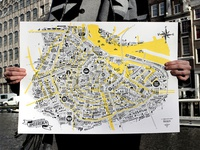 Great Places of Amsterdam illustrated map