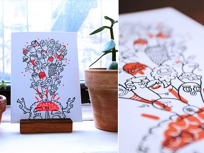 Holstee Art Subscribtion holstee shop sale illustration monsters print letterpress