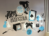 Game themed mural