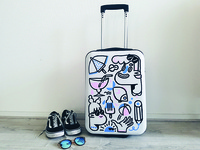 Suitcase painting