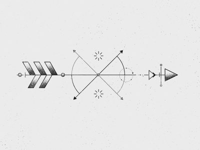 Geometric Arrow  stipple grain triangle art line tattoo design arrow geometric