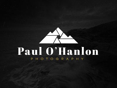 Paul O'Hanlon Photography Logo yellow font landscape photo photography mountains type design logo