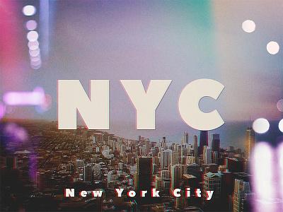 Retro NYC light leak vintage retro snl type logo manhattan nyc new york city new york